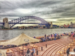 Opera Bar, with a view of the famour Harbour Bridge