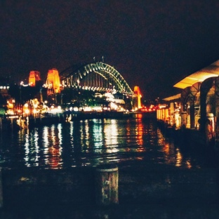 Sydney Harbour Bridge by nightfall