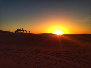 Sunrise at Sahara Desert