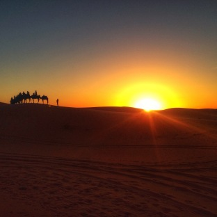 Sunrise at Sahara Desert