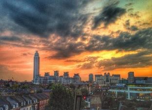 London's romantic sunset