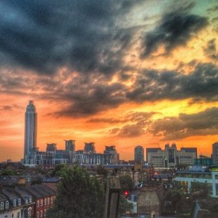 London's romantic sunset