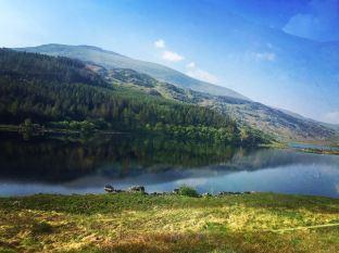 Beautiful lake in Snowdonia National Park
