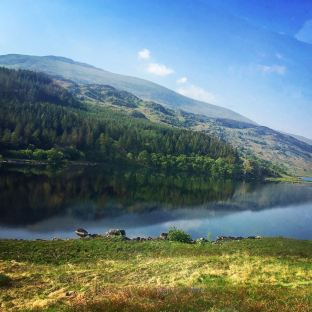 Beautiful lake in Snowdonia National Park