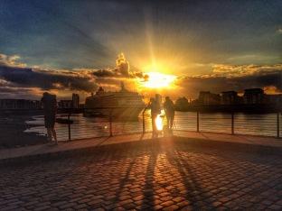 Sunset at Greenwich Pier